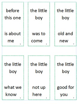 Fry Sight Word Phrases Dominoes List 1
