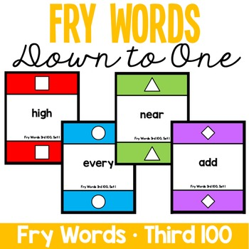 Fry Words - Down to One - Third 100