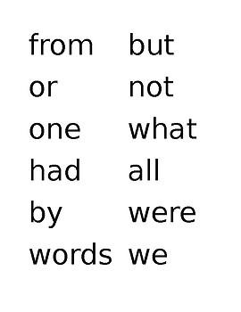 Fry Words- Editable