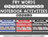 Fry Words Editable Interactive Notebook Activities BUNDLE