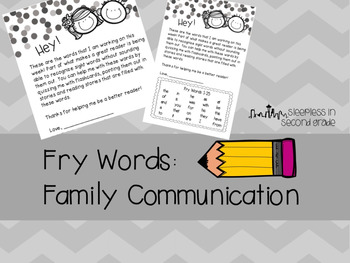 Fry Words Family Letter: Words 1-100