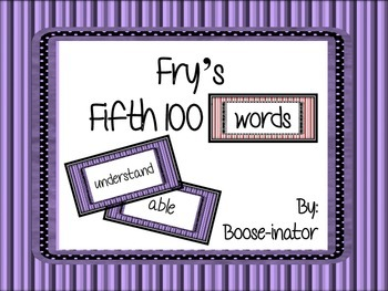 Fry Words - Fifth 100
