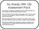 Fry Words: Fifth 100 Assessment Pack