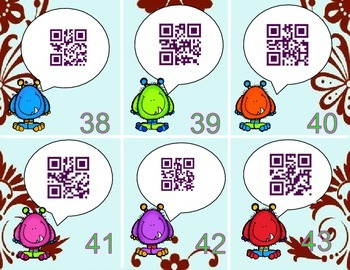 Fry Words Fifth 100 QR codes - Scan, Read, Match, Write MONSTERS