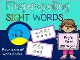 Fry Words Fingerspelling Card Packs
