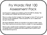 Fry Words: First 100 Assessment Pack