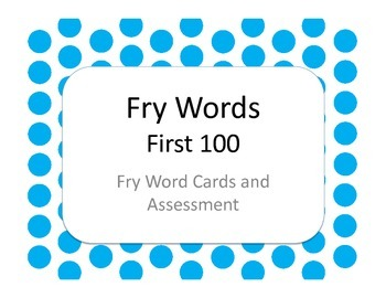 Fry Words - First 100 Flash Cards