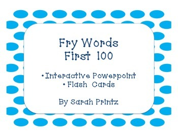 Fry Words - First 100 - Interactive Lesson and Flash Cards