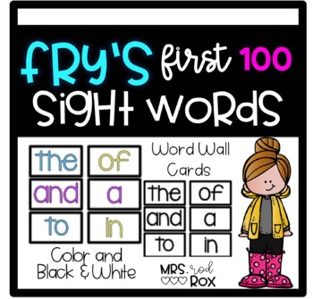 Fry Words First 100 PLUS EXTRAS!! Bright and Clean