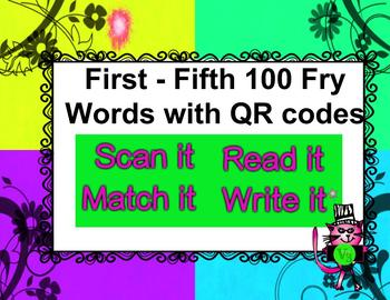 Fry Words First - Fifth 100 Bundle