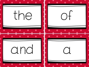 Fry Words Flash Cards Level 1