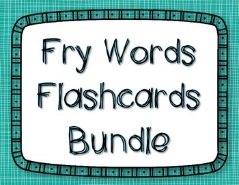 Fry Words  Flashcards BUNDLE