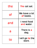 Fry Words Flashcards with Sentences: The First Hundred