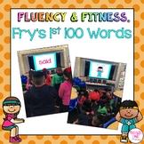 Fry's 1st 100 Sight Words Fluency & Fitness Brain Breaks Bundle