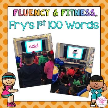 Fry's 1st 100 Sight Words Fluency & Fitness Brain Breaks