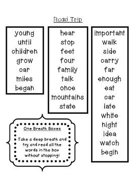 Fry Words Fluency Packet - 3rd 100 Words