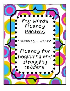 Fry Words Fluency Packet - Part 2