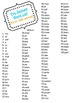Fry Words Fluency Packets