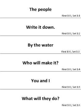 Fry Words Fluency Phrases