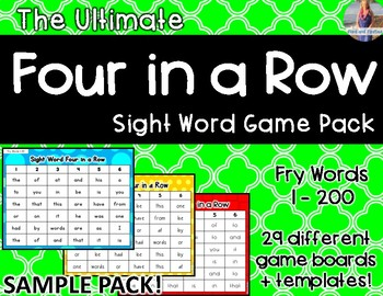 Fry Words Four in a Row *Mega Pack!!!* SAMPLE
