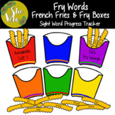 Fry Words French Fry Boxes - Sight Word Progress Tracker