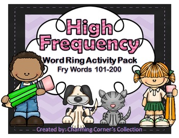 Fry Words ~ High Frequency Word Rings Set 2