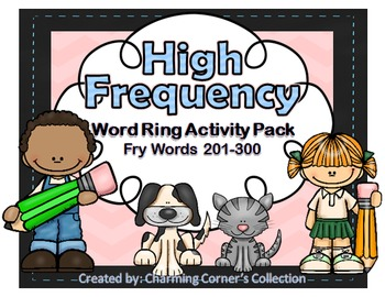 Fry Words ~ High Frequency Word Rings Set 3