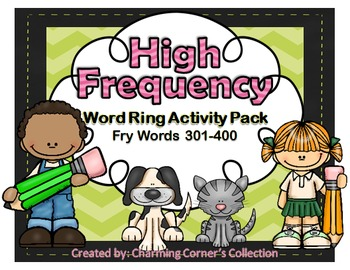 Fry Words ~ High Frequency Word Rings Set 4