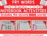 Fry Words Editable Interactive Notebook Activities {The Se