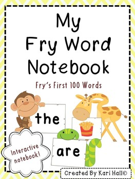 Fry Words Interactive Notebook {First 100}