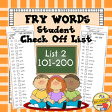 Fry Words - Check List 2*