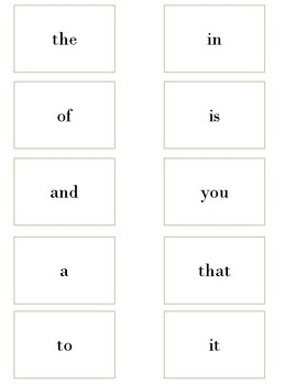 Fry Words List One