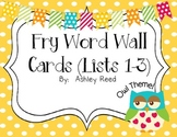 Fry Words (Owl Word Wall Cards)