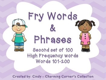 Fry Word Wall Set 2 ~ Words & Phrases 101-200