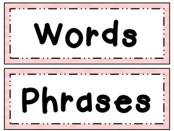 Fry Word Wall Set 3 ~ Words & Phrases 201-300