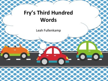 Fry Words PowerPoint Bundle including the first 300 Words