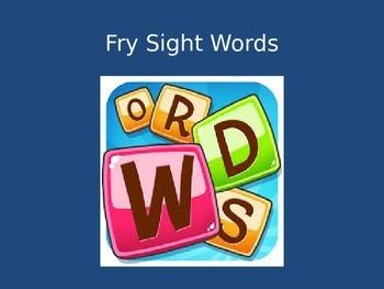Fry Words PowerPoint Freebie