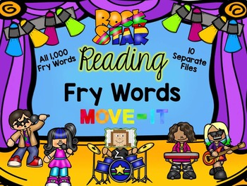 Fry Words Rock Star Reading MOVE IT!