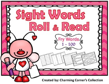 Fry Words Roll & Read - Valentine Theme
