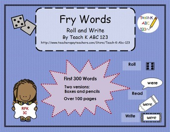Fry Words Roll and Write