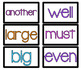 Fry Words SECOND 100 Word Cards Bright and Clean