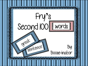 Fry Words - Second 100