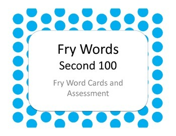 Fry Words - Second 100 Flash Cards