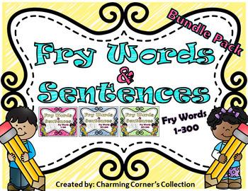 Fry Words & Sentences Bundle Pack ~ Words 1-300