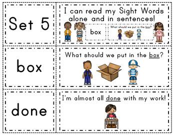 Fry Words & Sentences Set 5