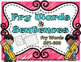 Fry Words & Sentences Set 6