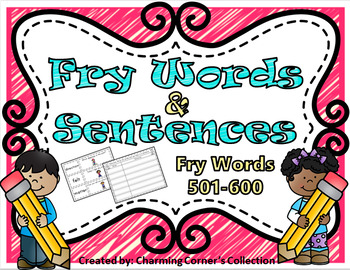 Fry Words & Sentences Set 6