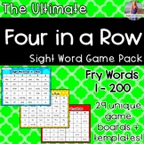 Fry Words / Sight Word Game Four in a Row *Mega Pack!!!*