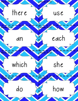 Fry Words (Sight Words) Flashcards 1-300