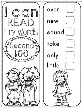 Fry Words Sticker Book - Second 100 Fry Words